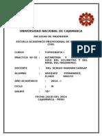 Práctica Nº 03 - ToPOGRAFÍA I - Altimetría y nivelación