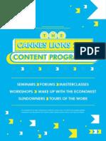 Cannes Lions Content Programme