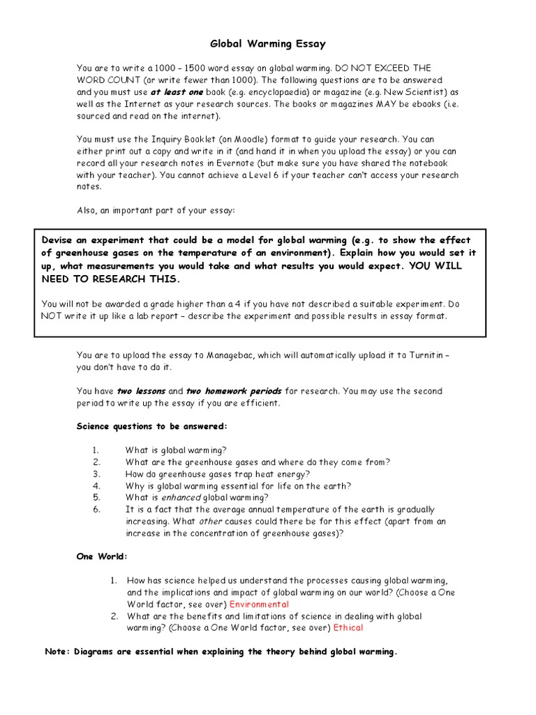 global warming essays argumentative When the topic of global warming surfaces in a conversation, various people either groan and avoid thesample argumentative essay on global warming.