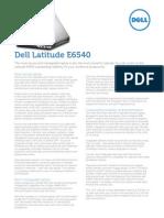 Dell-Latitude E6540 Spec Sheet Fina V2 G13001058