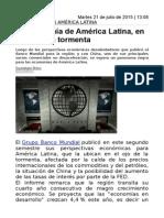 La Economía de América Latina, En El Ojo de La Tormenta