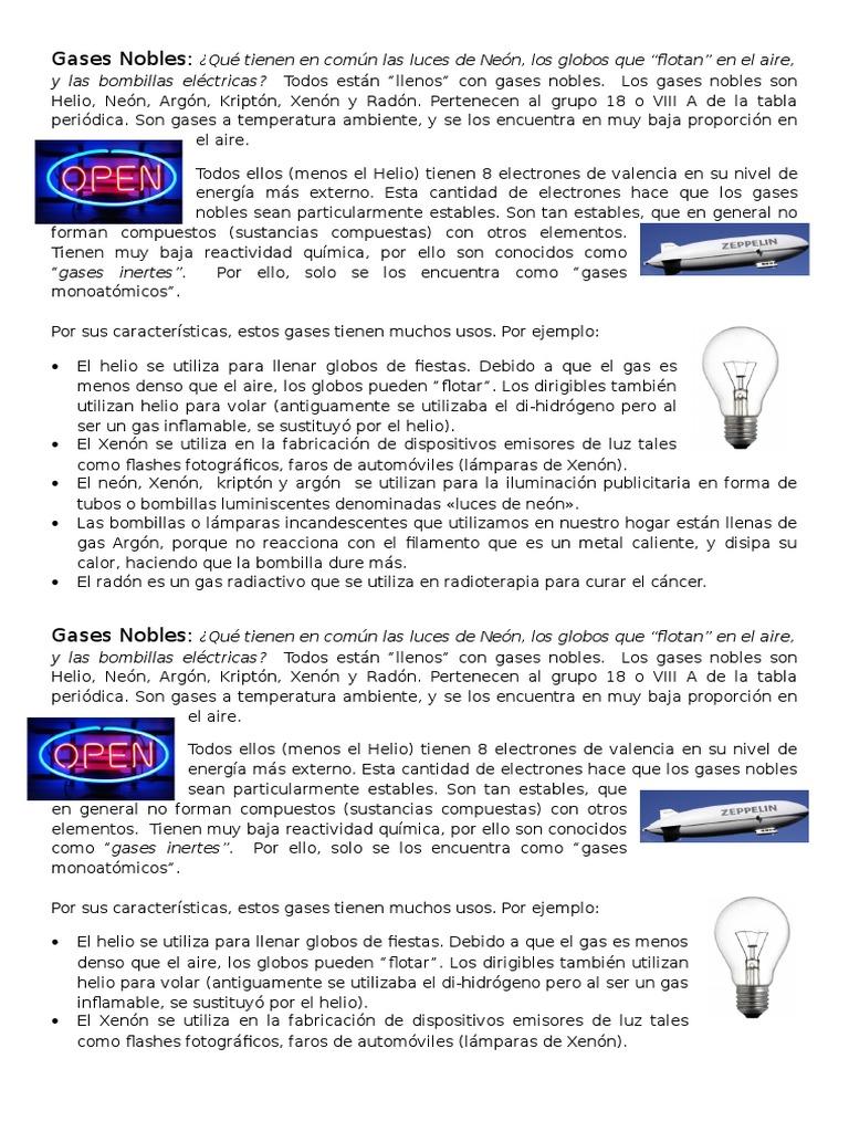 gases nobles - Tabla Periodica El Xenon