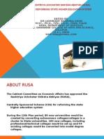 RUSA PPT RASHTRIYA UCHCHATAR SHIKSHA ABHIYAN (RUSA)for reforming state higher education system