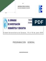 Programa GENERAL Jornadas 2015