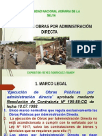 Exposicion Randy Obras Por Administracion Directa