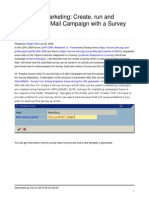 SAP CRM Survey With Email Campaign