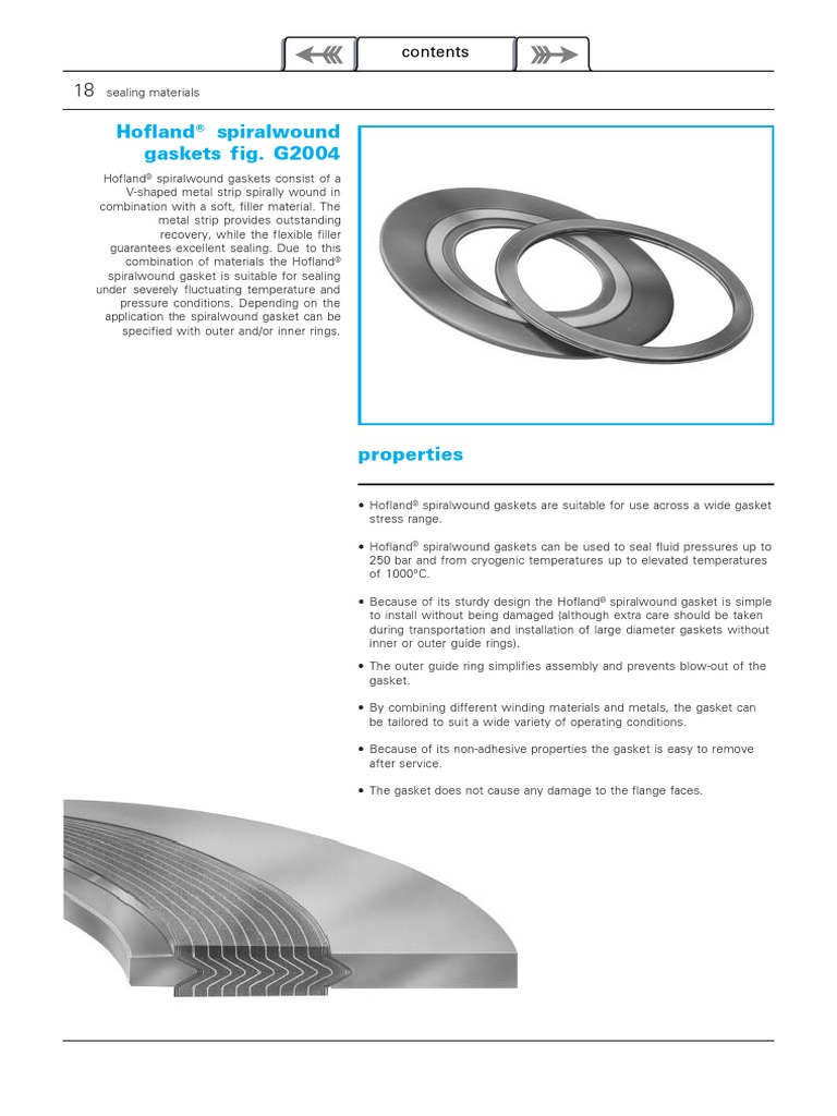 Catalog-Spiral Wound Gaskets | Pipe (Fluid Conveyance
