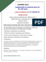 MB0040–Statistics for Management
