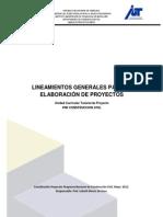 Lineamientos Generales Elab de Proyecto Mayo 2012