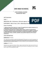 Yr 10 Assessment Task 1
