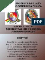 Ley 1178 Seminario 2015