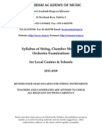 Local Centre Syllabus Stringed Instruments 2015 2018
