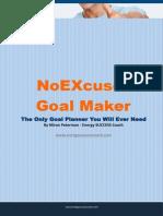 NoEXcuse Goal Maker