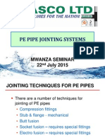 5. PE Pipe Jointing Systems by Plasco Ltd - Mwanza Presentations