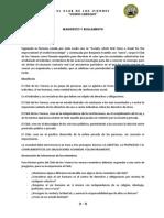 Club Viernes - Manifiesto- Reglamento