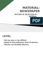 Material Newspaper