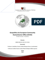Geopolítica da European Community Humanitarian Office (ECHO)