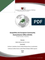 Geopolítica da European Community Humanitarian Office (ECHO)