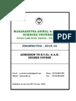 BVSc & AH Prospectus 2015-16