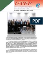 Acuerdos de Reunion Sostenida Con El Ministro Jaime Saavedra