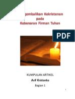 Mengembalikan Kekristenan ke Alkitab