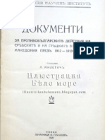Miletich, Lyubomir. Documents about antibulgarian actions of serbian and greek authorities in Macedonia between 1912-1913