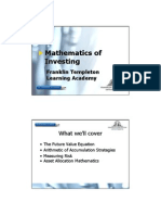 Mathematics Investing