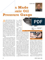 Custom Made Electronic Oil Pressure Guage