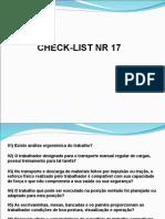Check List Nr 17