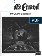 The Fool's Errand (Manual/PC)