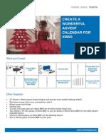 Create a Wonderful Advent Calendar for Xmas Asia