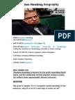 Stephen Hawking Biography