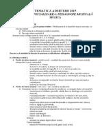 Tematica Pedagogie Muzicala 2015