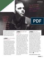 J Cole. Pride Magazine. July 2013