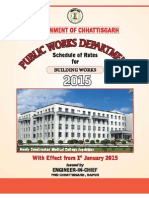 CG Schedules Of rates 2015 Building Portion