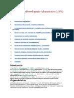 Ley Orgánica de Procedimiento Administrativo