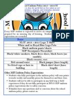 MJP Uniform Policy 2015 - 2016