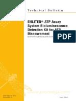 Enliten Atp Assay System Bioluminescence Detection Kit for Atp Protocl