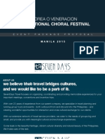Accomodation Packages AOV International Choral Festival 2015
