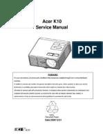 Acer k10 Projector Ver1.0