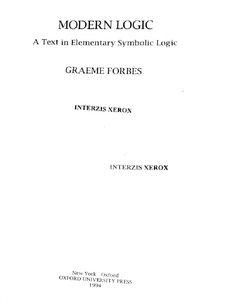 Graeme forbes modern logic scribd -