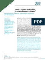 Les Beta Thalassemies Aspects Moleculaires Epidemiologiques Diagnostiques Et Cliniques