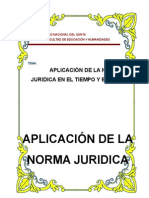 Aplicacion de La Norma Juridica en El Tiempo y El Espacio.