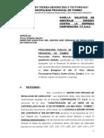 Solicitud de Arbitraje de Corporación t.t. Sac