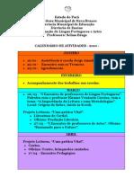 Calendário de Atividades de Língua Portuguesa 2010