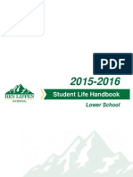 Lower School Student Life Handbook 2015-2016