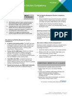 Mobility Management Solution Competency Datasheet