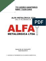ALFA - Projeto Hidrosanitário