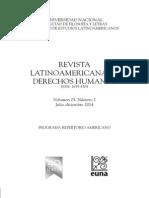 Revista Latinoamericana de Derechos Humanos, 25 (2), 2014