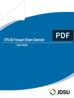 Dts-330 User Guide Trasnport Stream Generator